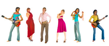 Seis estilos de vida diferentes foto de stock