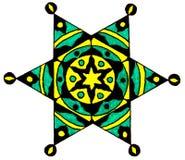 Seis estrelas aguçado decorativa Fotografia de Stock