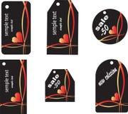 Seis etiquetas diferentes da compra Fotografia de Stock