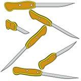 Seis facas de pão 3d Foto de Stock Royalty Free