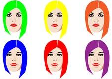 Seis faces Fotos de Stock Royalty Free