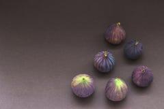 Seis figos frescos foto de stock