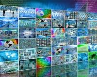 Seis fileiras Fotografia de Stock