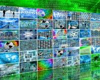 Seis fileiras Imagem de Stock