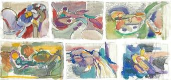 Seis fondos abstractos