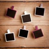Seis frames da foto do Polaroid-estilo Foto de Stock