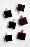 Seis frames da foto do Polaroid-estilo Imagens de Stock