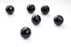 Seis gotas negras Fotografía de archivo