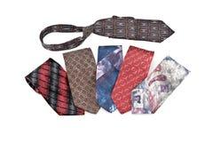 Seis gravatas varicoloured Imagem de Stock