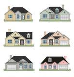 Seis hogares del rancho ilustración del vector