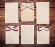 Seis hojas de papel viejas Imagen de archivo
