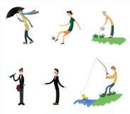 Seis homens ajustados Imagem de Stock