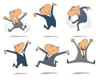 Seis homens de negócios de salto Imagem de Stock