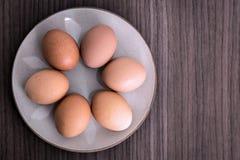 Seis huevos fotografía de archivo