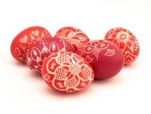 Seis huevos de Pascua Imagen de archivo