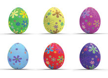 Seis huevos de Pascua Fotos de archivo libres de regalías