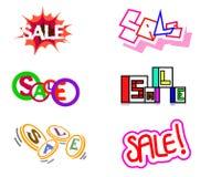 Seis iconos de la venta Foto de archivo libre de regalías