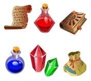 Seis iconos de magia. Imagen de archivo