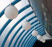 Seis lámparas blancas redondas Foto de archivo libre de regalías