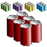 Seis latas do bloco Imagem de Stock Royalty Free