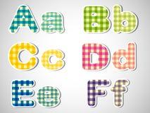 Seis letras en orden alfabético ilustración del vector