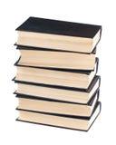 Seis libros negros fotografía de archivo