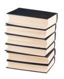 Seis libros negros de la cubierta Imagen de archivo