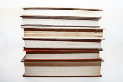 Seis libros viejos imagen de archivo libre de regalías