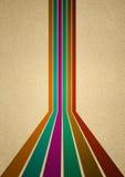 Seis linhas retros em cores diferentes Foto de Stock Royalty Free
