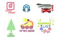 Seis logotipos ajustados Imagem de Stock Royalty Free