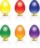 Seis luzes de Natal brilhantes Ilustração Stock