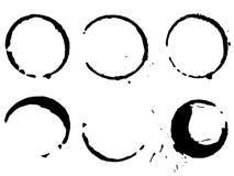Seis manchas del café Imagen de archivo