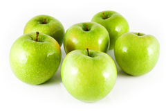 Seis manzanas Fotos de archivo libres de regalías