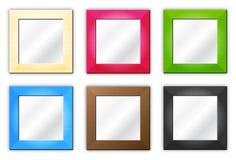 Seis marcos/espejos Imagenes de archivo