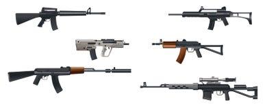 Seis metralhadoras Imagem de Stock
