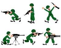 Seis militares Foto de Stock Royalty Free