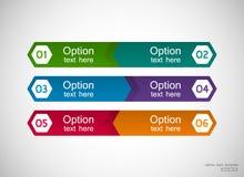 Seis moldes das opções Foto de Stock