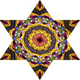 Seis mosaicos aguçado da estrela em cores vívidas Imagem de Stock Royalty Free