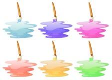 Seis opciones de la pintura ilustración del vector
