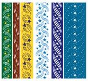 Seis ornamentos inconsútiles de la estrella Imagen de archivo