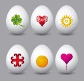 Seis ovos de easter, vetor Foto de Stock