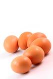 Seis ovos marrons Fotos de Stock Royalty Free