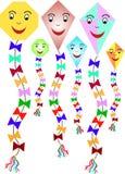 Seis papagaios de papel coloridos Imagens de Stock Royalty Free