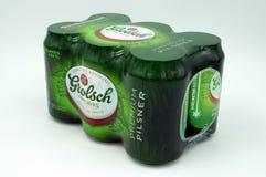 Seis paquetes de cerveza de Grolsch del holandés fotografía de archivo libre de regalías