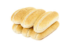 Seis pedazos de pan Foto de archivo libre de regalías