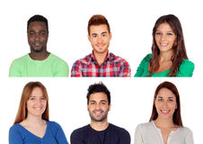 Seis pessoas adultas diferentes Foto de Stock Royalty Free