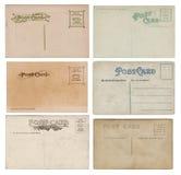Seis postales en blanco de la antigüedad de la vendimia fotos de archivo