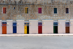 Seis puertas Fotografía de archivo libre de regalías