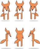 Seis raposas pequenas Imagens de Stock