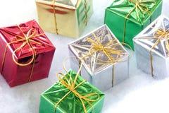 Seis regalos Fotografía de archivo libre de regalías